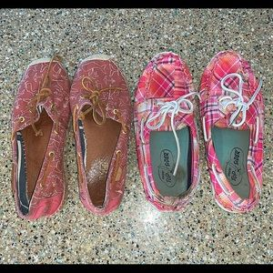 SPERRY TOP-SIDERS two pairs preppy boat shoes